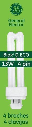 GE Lighting Energy Smart CFL 97597 13-Watt, 900-Lumen Double Biax Light Bulb with G24Q-1 Base, 10-Pack (Lamps Biax Cfl)