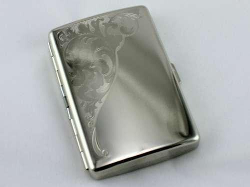 Metal Double Sided King & 100's Cigarette Case Vintage Design (Country Cigarette Case)