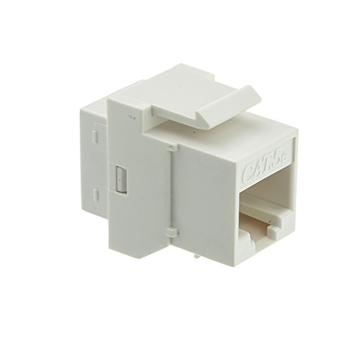 CableWholesale CAT5E, RJ45 Inline Keystone Coupler, White (310-220WH) (Keystone Coupler Cat5e)