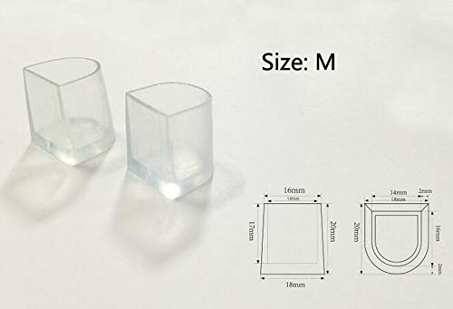 New Pair Clear WEDDING HIGH HEEL SHOE PROTECTOR Stiletto COVER STOPPERS Size M