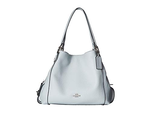 COACH Women's Pebbled Leather Edie 31 Shoulder Bag Sv/Sky One Size