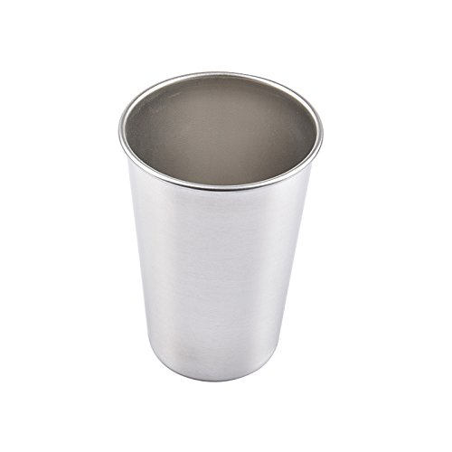- Premium Stainless Steel Cups,Shatterproof Pint Drinking Cups Metal Drinking Glasses for Travel,Outdoor,Camping, Everyday