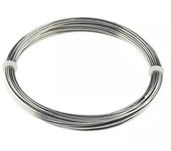 316L Stainless Steel Wire Stainless Steel Round Wire Stainless Aircraft Steel Cable Wire Rope 50 Ft. Coil 15m*1.0mm
