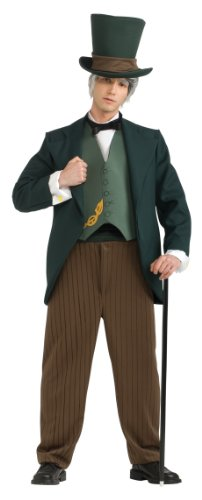 Wizard Of Oz Halloween Costumes For Adults (Wizard Of Oz Wizard Costume, Green, Standard)