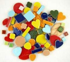 Jennifer's Mosaics 1-Pound Deco Ceramic Mosaic Tile, Assorted Colors