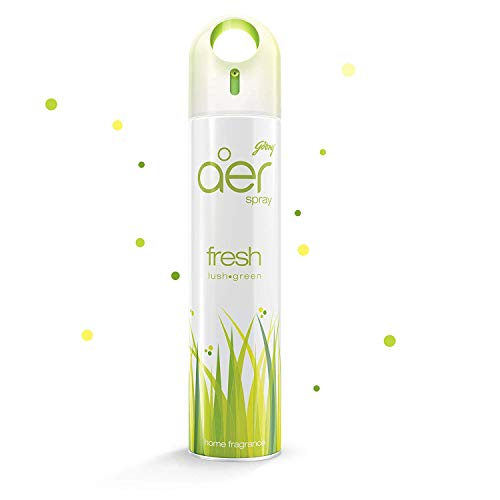 Godrej aer Spray, Home and Office Air Freshener – Fresh Lush Green (240 ml)