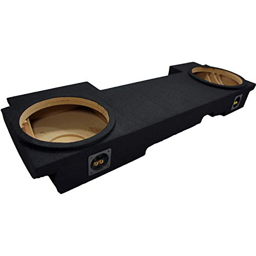 "Compatible with Chevy Silverado or GMC Sierra HD Crew Cab Truck 2001-2006 Dual 12"" Subwoofer Underseat Sub Box Speaker Enclosure"