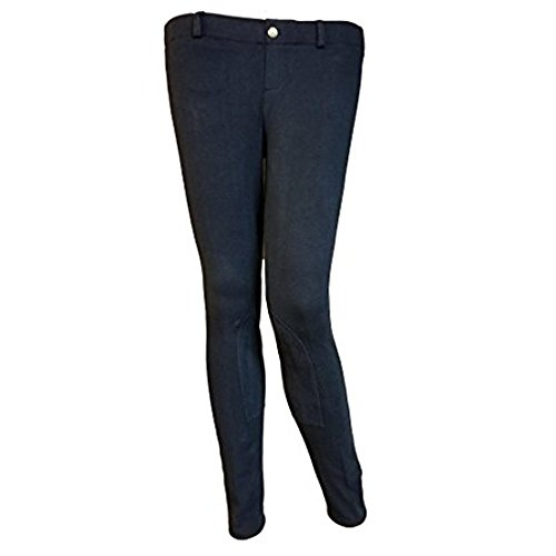 Shires Essentials Lowrise Children's Pull On Riding Breeches - Black - Size 10