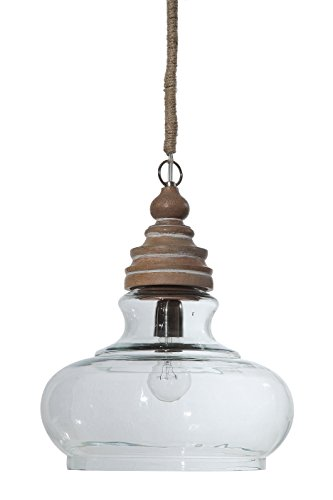 Round Wood Pendant Light in Florida - 6