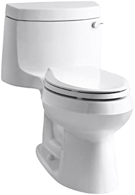 Kohler K-3828-RA-0 Cimarron Comfort Height Elongated Toilet with Right-Hand Trip Lever, White