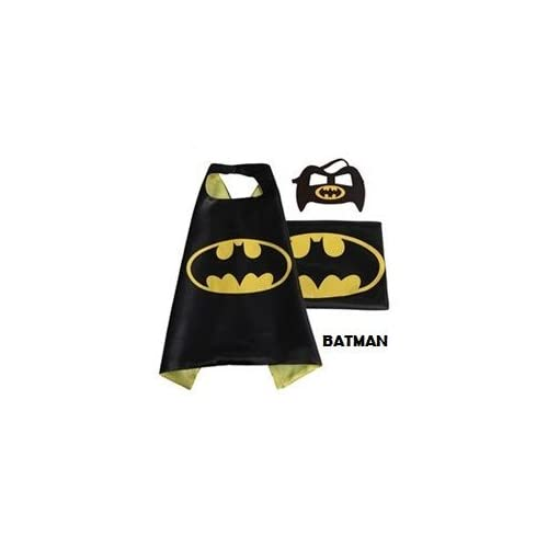 Superhero Cape with free Mask for kids - Party Costume (Batman) by Huffy Sports