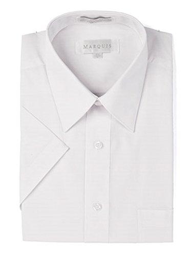 Marquis Shape (Marquis Men's White Short Sleeve Regular Fit Dress Shirt - XL)