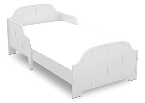 Delta Children MySize Toddler Bed, Bianca (White Wood Toddler Bed)