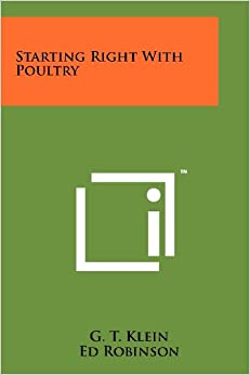 Book Starting Right with Poultry