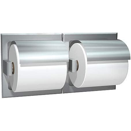 ASI 74022-HSSM-D Toilet Paper Holder w/Hood (Double), Surface Mounted, Satin, For Drywall Installation by ASI (Image #1)