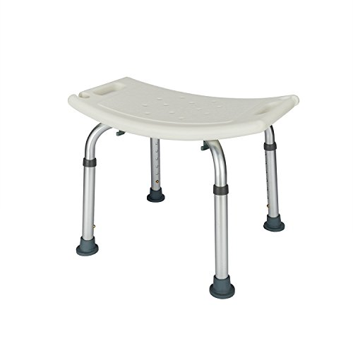Mefeir Medical Shower Chair Bath Stool Transfer Bench Seat, SPA Bathroom Bathtub Chair No-slip Adjustable 7 Height(Normal) (Bathroom Small Stool)
