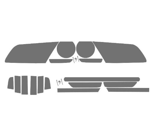 (Subject 9 - Fits: Mustang Pre-cut vinyl overlay Complete Headlight and Taillight PLUS tint (2013 2014) LIGHT)