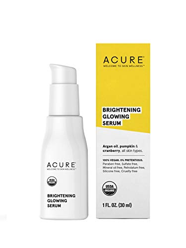 Acure Brightening Glowing Serum, 1 Fluid Ounce (Packaging May Vary) (Best Drugstore Vitamin C Serum For Face)