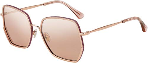 Jimmy Choo ALINE/S EYR Gold/Pink ALINE/S Square Sunglasses Lens Category 2 ()
