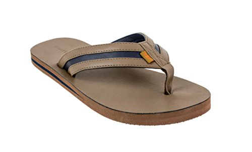 Footbed 13 Men's Upper navy Two Comfort to Dockers with Sandal Classic Tan Flip 8 Size Tone Flop ; 0nwZFdq