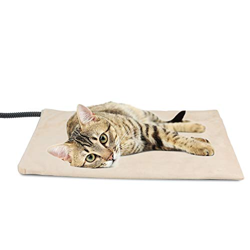 NICREW Pet Heating Pad for Dogs and Cats, Heated Pet Mat with Steel-Wrapped Cord and Soft Fleece Cover, 19.5