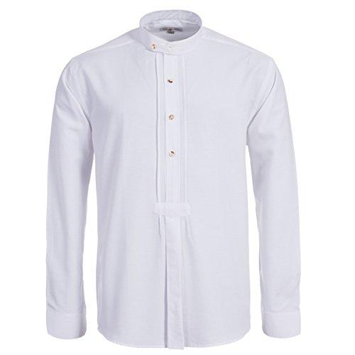 Trachtenhemd mit Riegel in weiß von Almsach, Größe:L;Farbe:Weiß