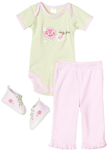 BabyGear Baby-Girls Newborn 3 Piece Set On Hanger