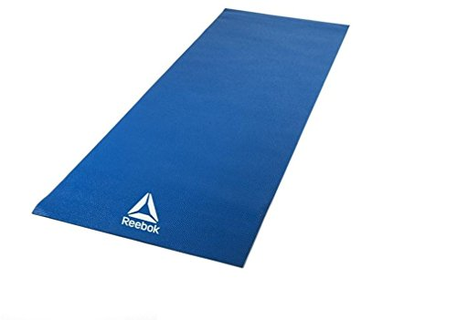 Reebok yoga mat 4mm Blue RAYG-11022BL [fitness training Pilates diet] by Reebok