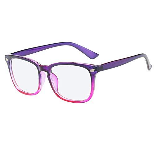Blue Light Blocking Glasses Square Nerd Eyeglasses Frame Anti Blue Ray ()