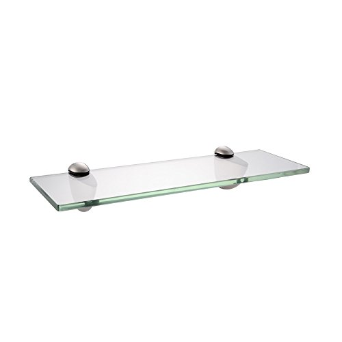 KES Bathroom Tempered Glass Shelf 14-Inch 8MM Thick Wall Mount Rectangular, Brushed Nickel Bracket, BGS3200S35-2