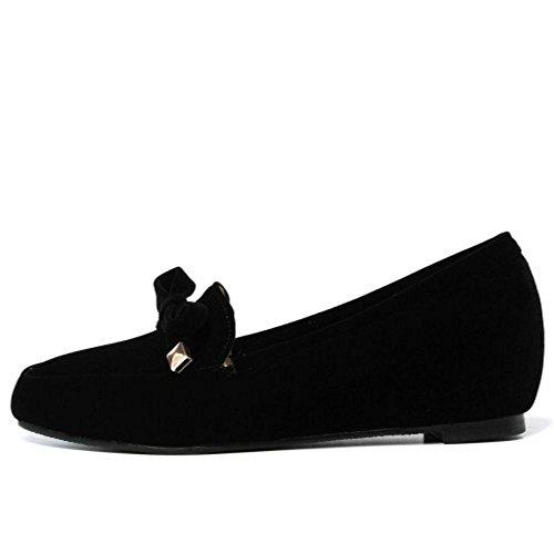 mujer On TAOFFEN de Casual Slip Negro Zapatillas Pumps SwX5q1fA