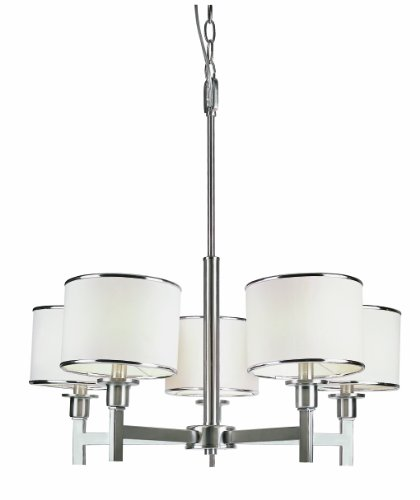 Trans Globe Lighting 1055 BN Indoor Cadance 26 Chandelier, Brushed Nickel