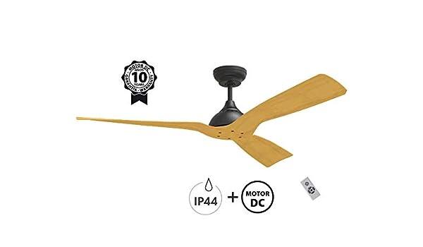 Klass Fan Ventilador de Techo Serie waterwind Color Madera: Amazon ...