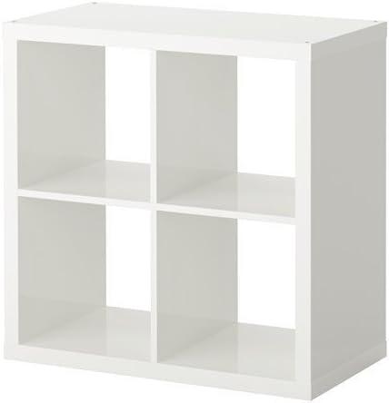 Ikea Kallax Etageres Bibliotheque Parfait Pour Paniers Ou Boites 77 X 77 Cm Noir Marron White 4 Cases Amazon Fr Cuisine Maison