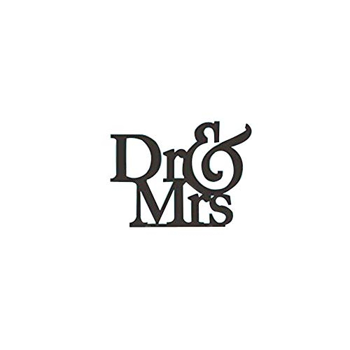 Unique Dr and Mrs Wedding Cake Topper, Unique Cake Topper, Elegant Cake Topper, Engagement Gift, Doctor Wedding Gift, (white, gold, silver, black, 6 - Dr Mrs Toppers And Cake