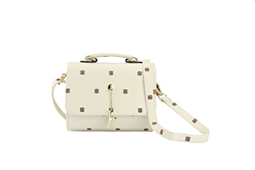 Crossbody Bag for Women Girls PU Leather Classic Shoulder Phone Purse Fawn Pendant