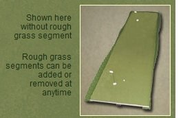 Extreme Green Contender Golf 6' X 25' Practice Chipping Putting Trainer