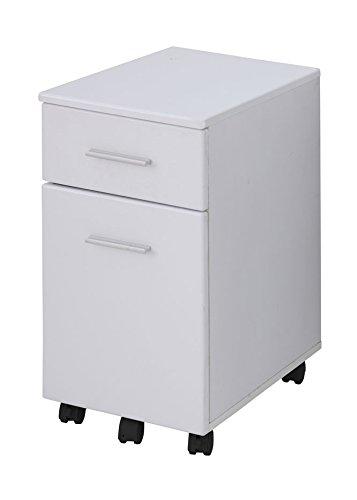 あずま工芸 ボレロ サイドチェスト 幅33.5×高さ60cm ホワイト EDS-1601 B01B1710MM ホワイト ホワイト