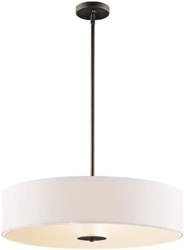 Kichler 42122OZ Semi Flush Drum Pendant Lighting