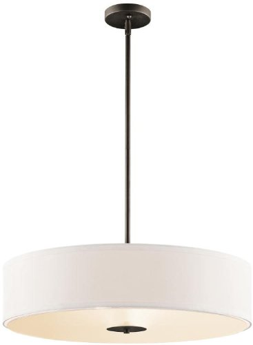 24 Semi Flush - Kichler 42122OZ, Semi Flush 3 Light Pendant, Olde Bronze