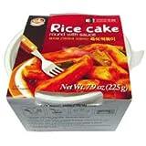 Korean Instant Ddukbokki Samhak Rice Cake Round with Sauce 7.9 Oz (One)