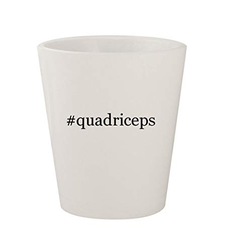 #quadriceps - Ceramic White Hashtag 1.5oz Shot Glass