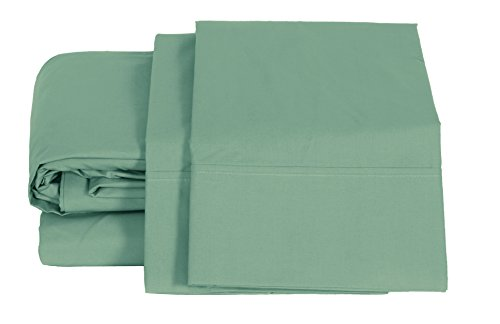 100% Cotton Percale Sheets Full Size, Teal, Deep Pocket, 4 Piece - 1 Flat, 1 Deep Pocket Fitted Sheet and 2 Pillowcases, Crisp and Strong Bed ()