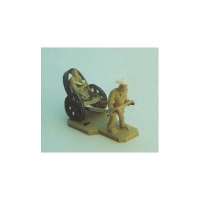 Bonsai Boy's Mud Man Ceramic Figurine-Man Pulling Rickshaw: Home & Kitchen