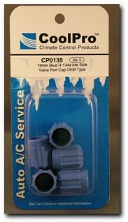 CoolPro Blue R-134a Low Side Valve Port Cap, 13mm (Blue Low Side Service Port)