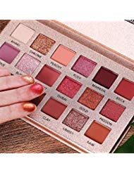 (Professional The New Nude Palette, 18 Colors Eyeshadow Palette, Multi-Reflective Matte Glitters Pressed Pearl Concealer Base Shades Waterproof Eye Shadow Makeup)