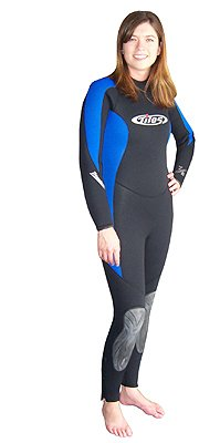 7mm Tilos Women's Deluxe Super Stretch Full Suit Wetsuit 7-6-5 mm for Diving, Surfing and Water Sports (wet66), Women's Large Super Stretch Full Wetsuit