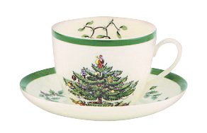 Spode Christmas Tree Teacup and Saucer (Tree Cup)