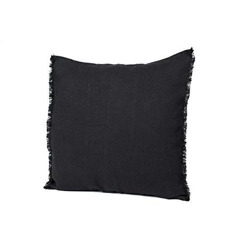Harmony - Funda de cojín Viti - 100% lino - negro - 45 cm x ...