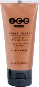 Ice Hair - Spiker Colorz Metallix Colored Styling Glue, Twisted Copper, 1.69 FL OZ